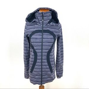 Lululemon In Stride Hooded Jacket Stripes Galore